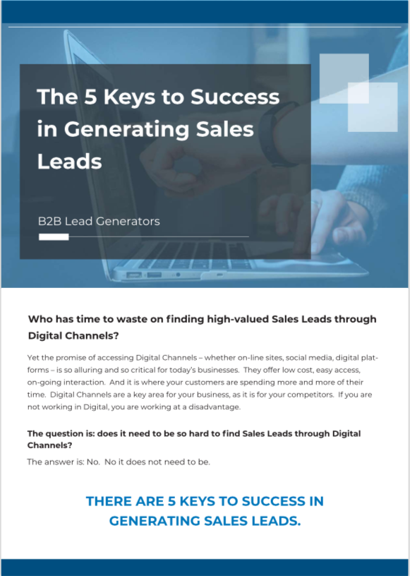 five keys to success in generating sales leads